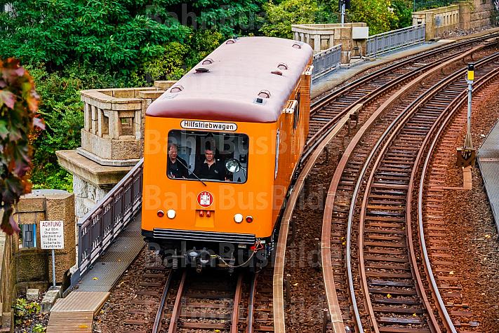 Bauzug am U-Bahnhof Landungsbrücken in Hamburg