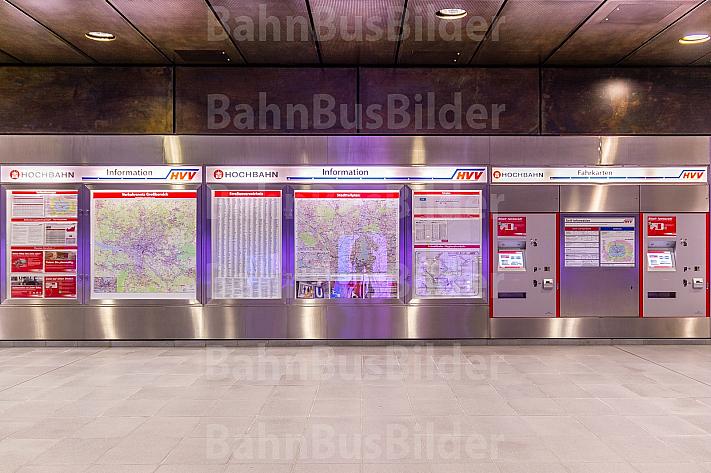 Fahrkartenautomaten im U-Bahnhof HafenCity Universität in Hamburg