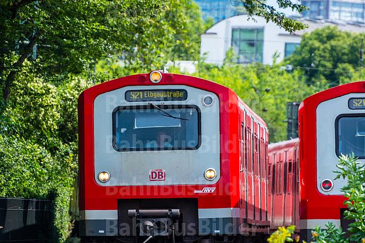 S-Bahnen am Hauptbahnhof in Hamburg
