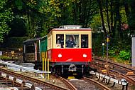 Historische Museums-U-Bahn (T-Wagen) am Schlump in Hamburg