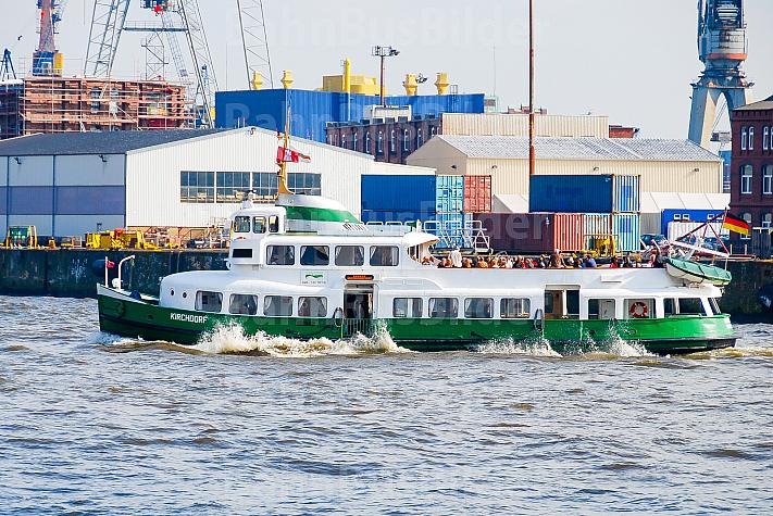 Hafenfähre Kirchdorf - das historische Typschiff der Hadag in Hamburg
