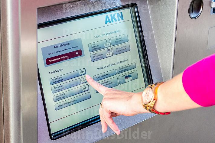 Fahrkartenautomat der AKN