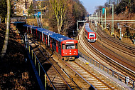 U-Bahn und S-Bahn treffen sich am Berliner Tor in Hamburg