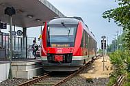 Regionalzug im Fährbahnhof Puttgarden