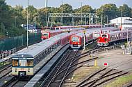 Historischer S-Bahnzug der Baureihe 470 im Betriebswerk Ohlsdorf
