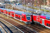 Regionalexpress am Berliner Tor in Hamburg