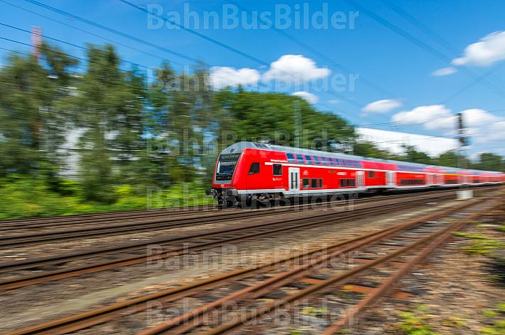 Regionalzug am Güterbahnhof Wandsbek in Hamburg