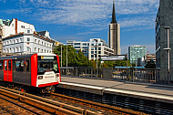 U-Bahn am Rödingsmarkt in Hamburg