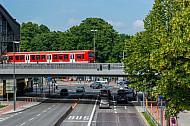 S-Bahn am Dammtorbahnhof in Hamburg